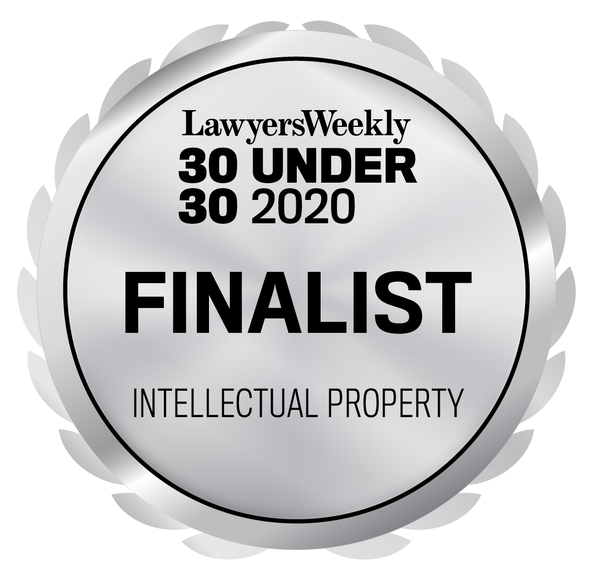 30 Under 30 Awards - Intellectual Property - Finalist - 2020