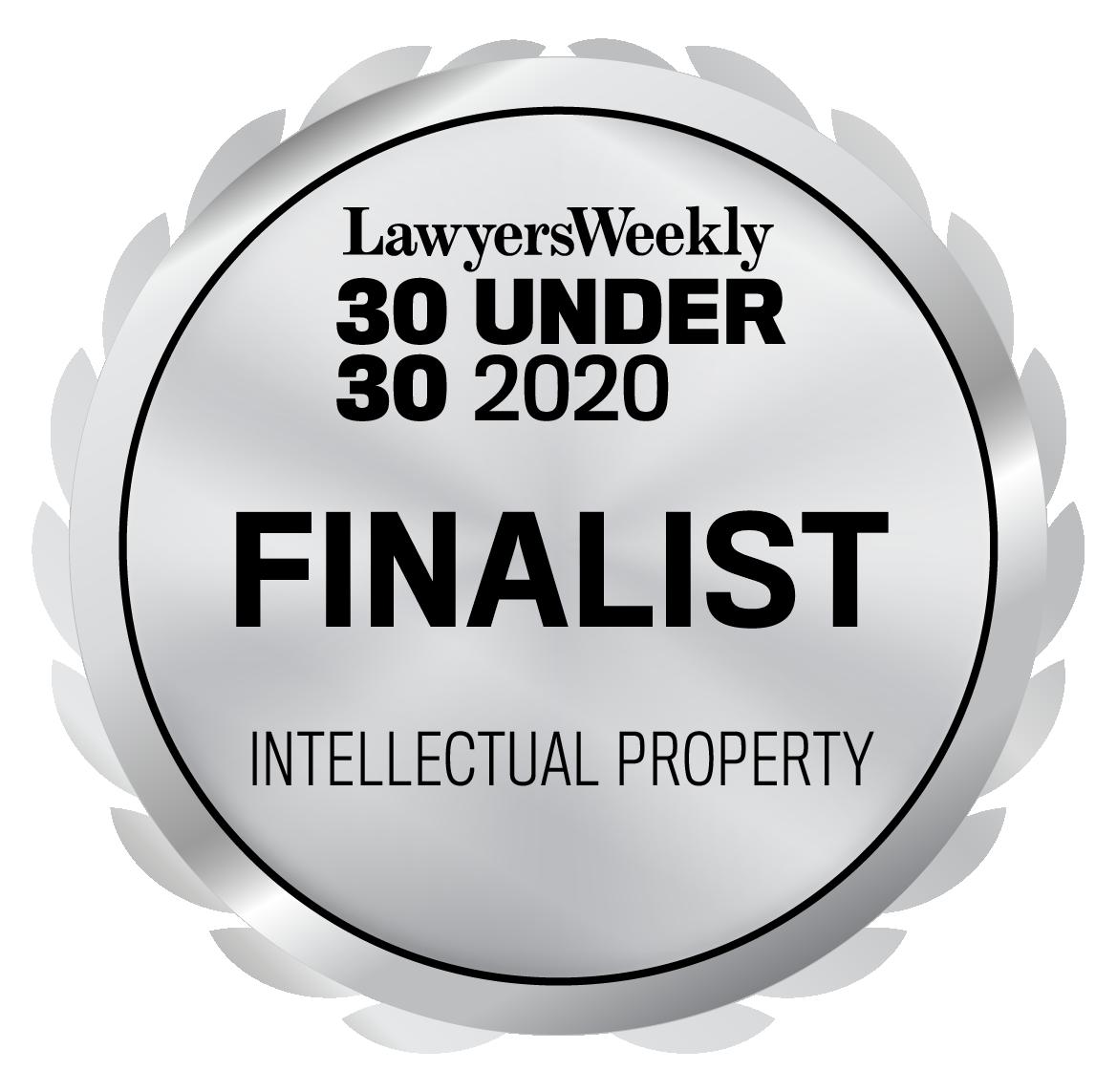 30 Under 30 Awards - Intellectual Property - Finalist - 2020