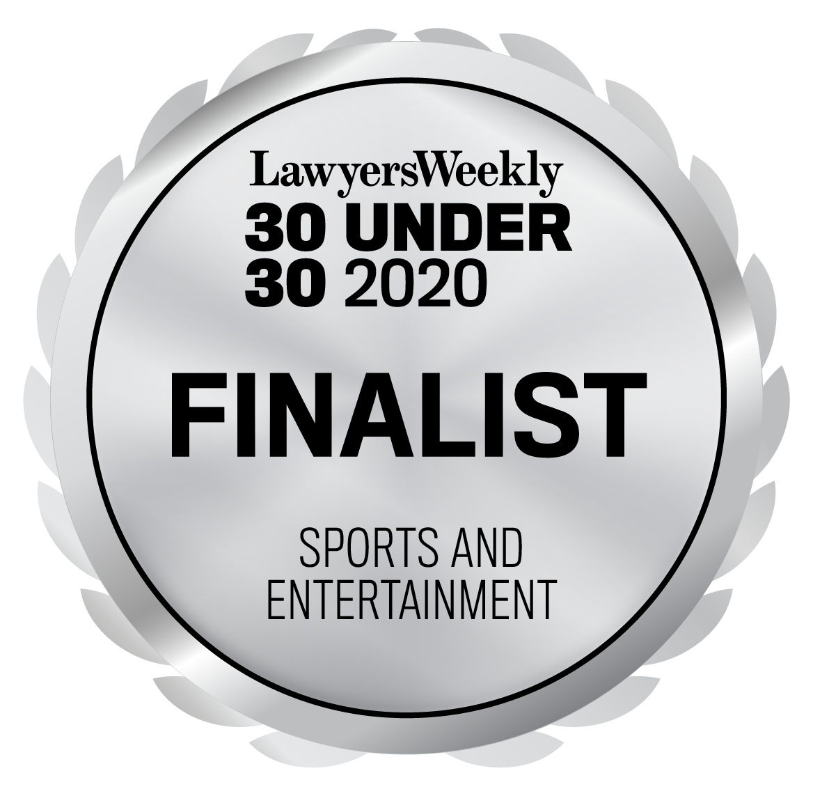 30 Under 30 Awards - Sports and Entertainment- Finalist - 2020