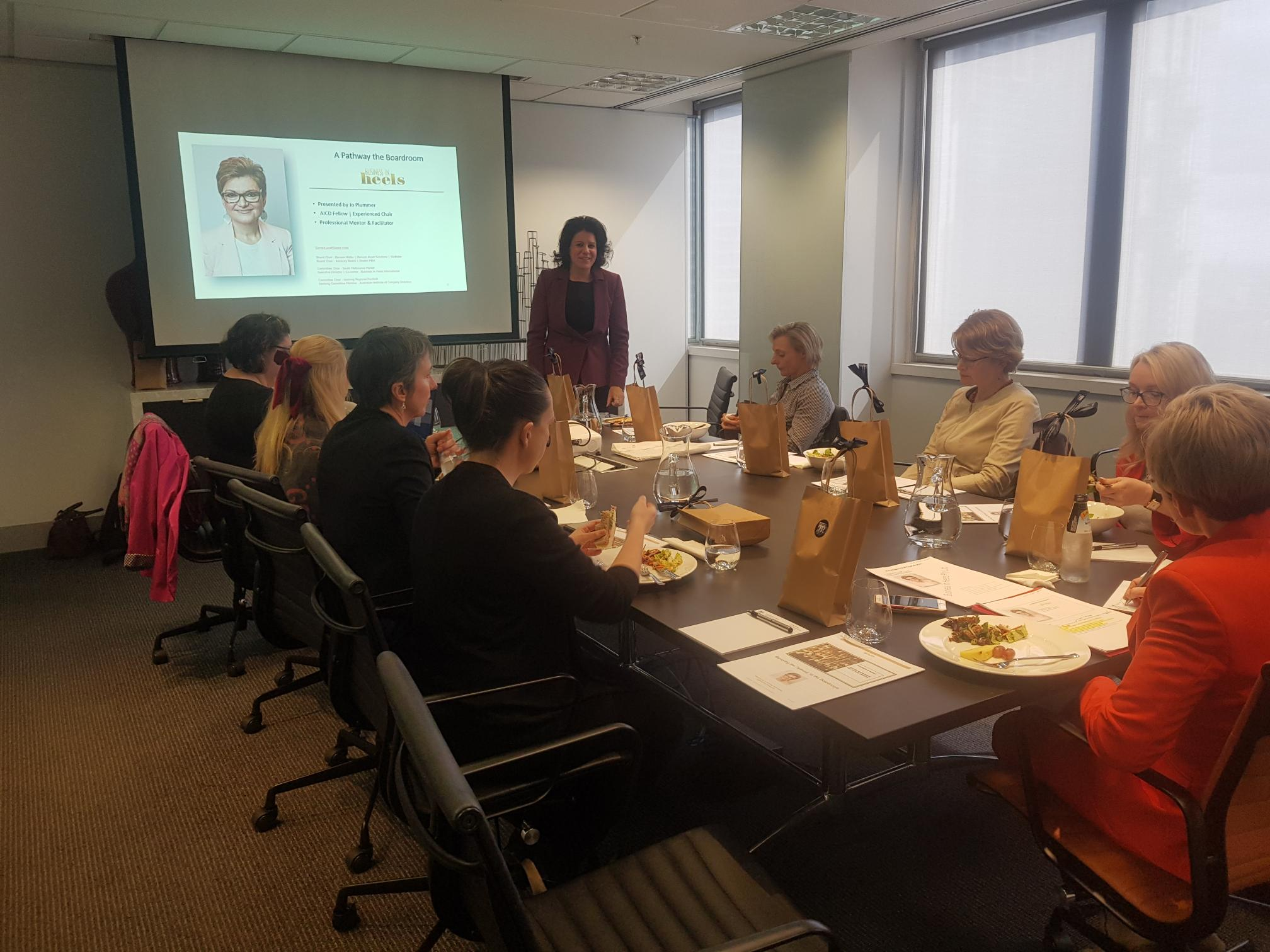 Nicolina Lademann presents at the Pathway to the Boardroom workshop
